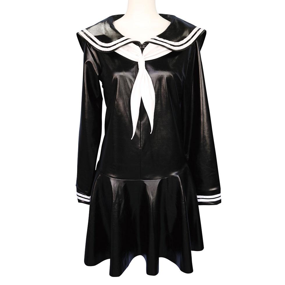 光沢エナメル長袖セーラー服 おとこの娘用 2Lサイズ